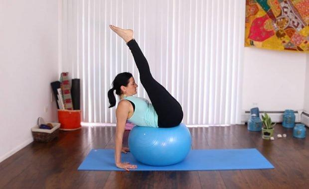 On The Ball Leg Lift Routine